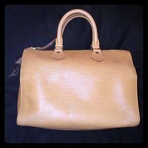 Auth Louis Vuitton Epi leather Speedy 25